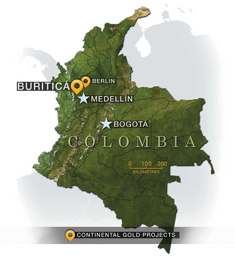 Colombia Map 2016