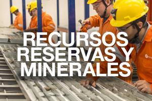 Recursos reservas y minerales