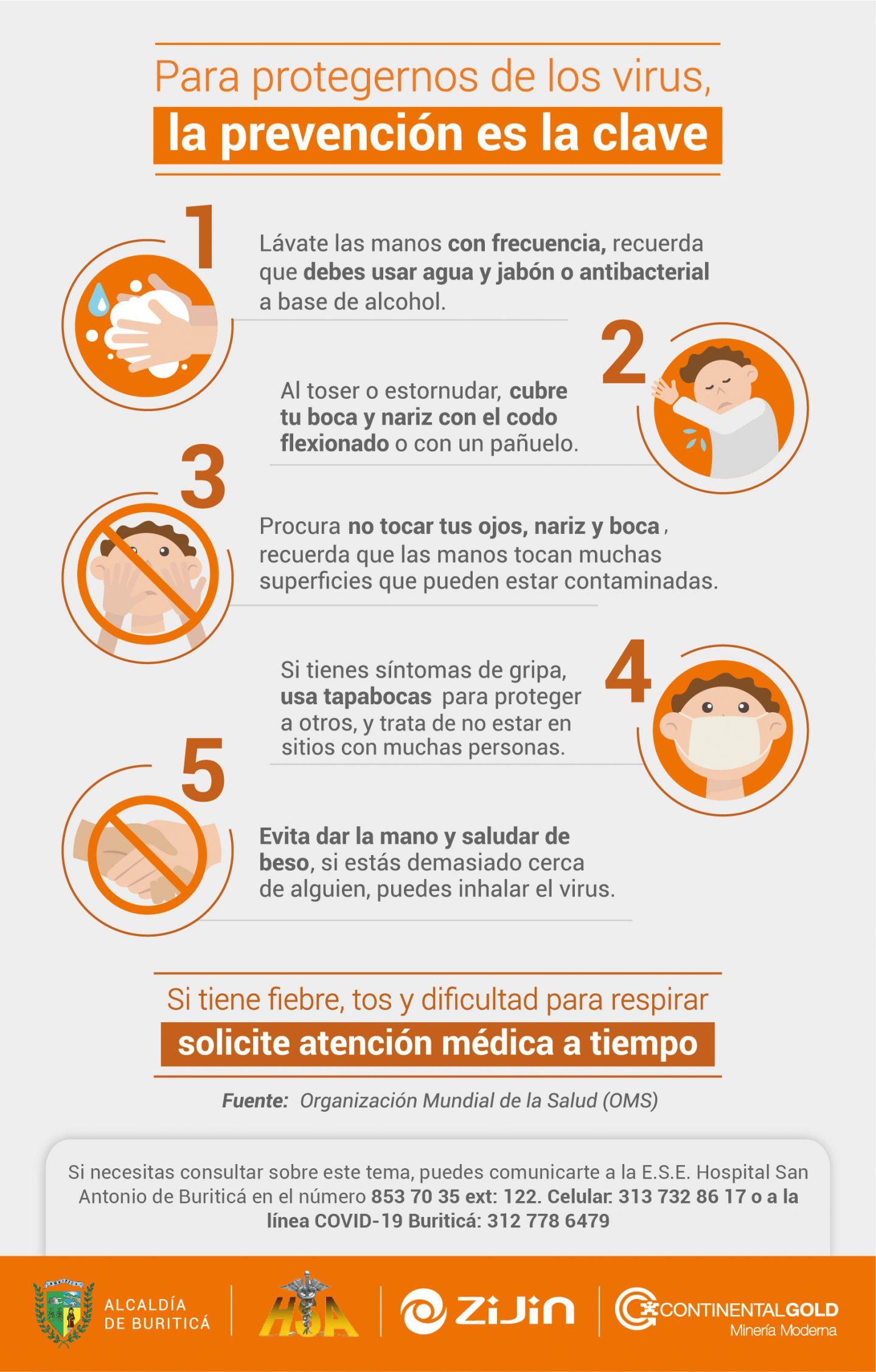 Tips de Prevención COVID-19 Buriticá