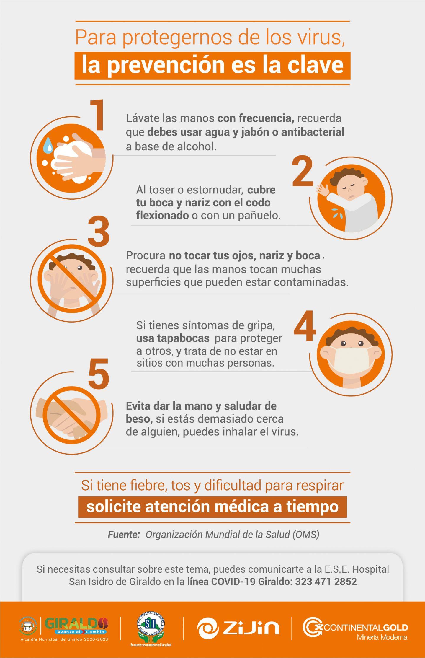 Tips de Prevención COVID-19 Giraldo
