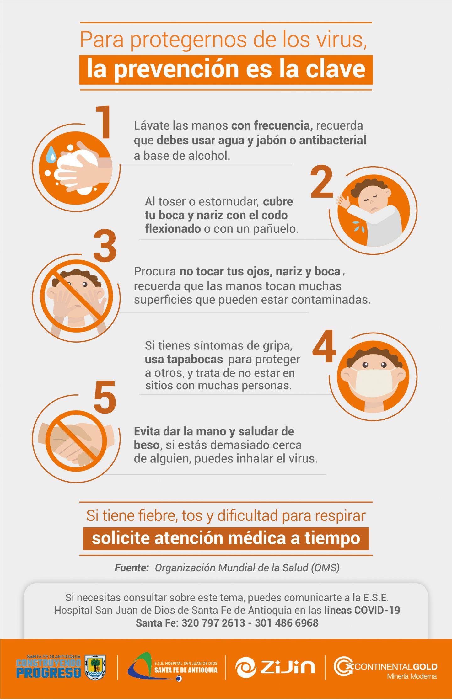 Tips de Prevención COVID-19 Santa Fe